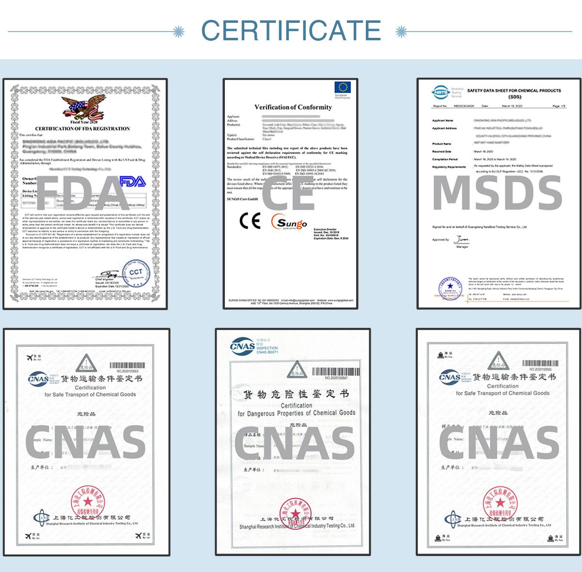 FDA, CE