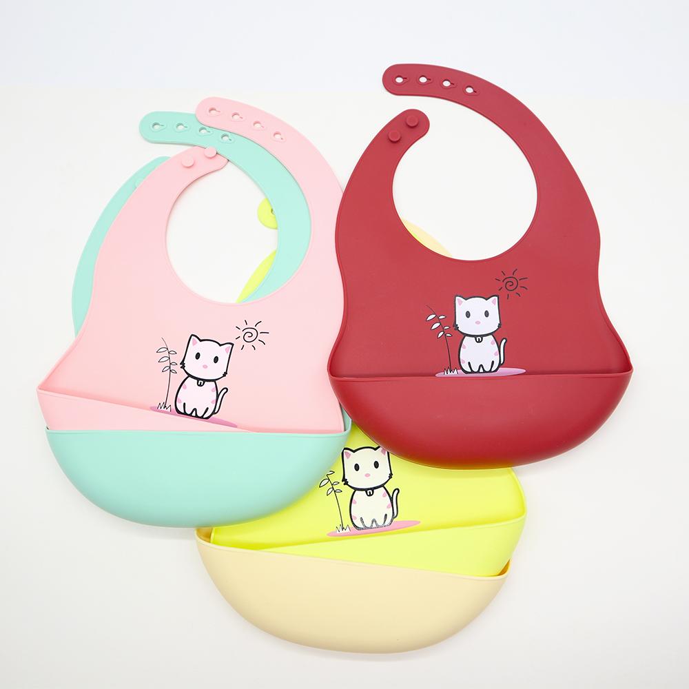 Silicone Baby Bib Soft Waterproof Custom Wholesale l Melikey Featured Image