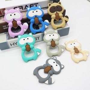 High definition Cartoon Dog Bpa Free Diy Nursing Bayby Teething Pendants Food Grade Silicone Teether