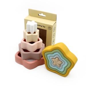 Baby Stacking Toy Silicone Montessori Wholesale