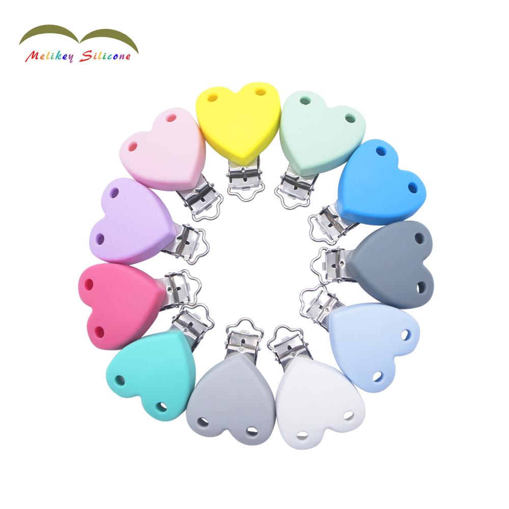 Fopspeen knipsels Silicone Heart Clip Wholesale Sjina |  Melikey Voorgestelde Image
