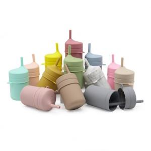 Taza para beber para bebés con paja a prueba de fugas de grado alimenticio al por mayor l Melikey