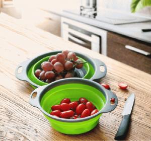 Uzglabāšanas grozi Virtuves Sietiņš Saliekami Silikona |  Melikey